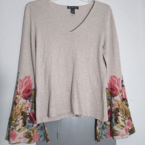 Floral flare shirt